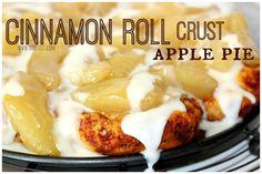 ~Cinnamon Roll Crust Apple Pie!