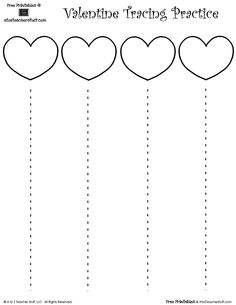 Valentine's Day Heart Cutting Practice with Straight Lines Preschool Cutting Practice, Cutting Activities, Preschool Learning Activities, Preschool Printables, Preschool Worksheets, Infant Activities, Preschool Letters, Tracing Worksheets, Scissor Practice