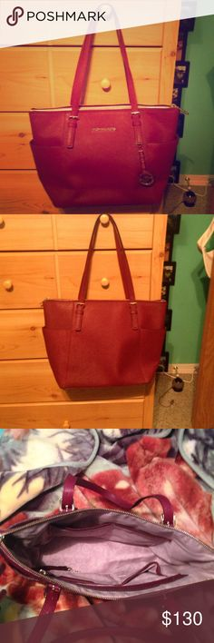 Michael Kors Purse. This color is called merlot. The pictures show it as more of a red but it is truly a deep burgundy. Michael Kors Bags Shoulder Bags