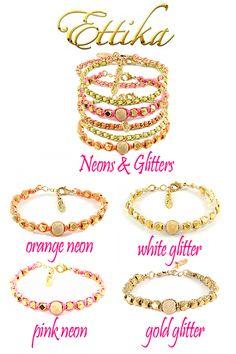 Neon and Glitter Bracelets.