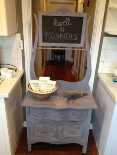 Painted in ALL NATURAL MMSMP Dried Lavender Milk Paint available at For The Love Creations...message or email us any questions