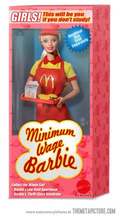 funny Barbie McDonalds minimum wage