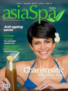 The gorgeous Mandira Bedi on cover of AsiaSpa magazine for November issue :)) www.MandiraBediBayArea.com  #JantaConnection #MandiraBedi #AsiaSpa #JabongWorld