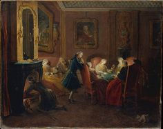 Pierre Louis Dumesnil the Younger | Card Players in a Drawing Room | The Metropolitan Museum of Art