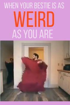 Wenn dein Freund so seltsam ist wie du - Dying from laughter - Humor bilder Yoga Meme, Yoga Humor, Funny Cute, The Funny, Funny Texts, Funny Jokes, Memes Humor, Bad Memes, Bizarre