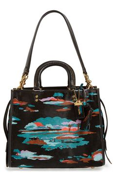 COACH 1941 COACH 1941 'Rogue' Print Genuine Calf Hair Satchel available at #Nordstrom