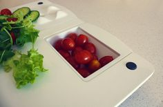 This is the best cutting board I've ever seen.  Chopp is a food preparation aid aimed primarily at elderly users & people with disabilities & mobility issues. It is designed to be used in compact living environment where there is a need to utilise every last bit of worktop space.  A kitchen product for you!!