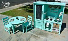 Repurposed kitchen play set~ Grungy Galz
