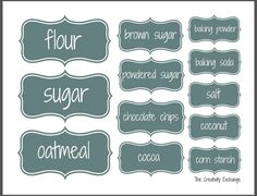 Organize a Baking Cabinet with Free Printable Labels from @theexchange
