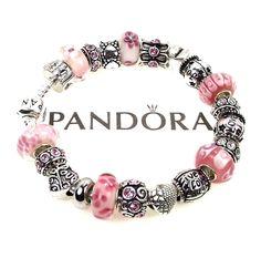 30b362880 Authentic Pandora Bracelet Pink Live Love Laugh Joy Words Charm Murano  Beads | eBay Pandora Rings