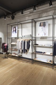 Design showcase: a new store concept for Jigsaw Clothing Store Interior, Clothing Store Displays, Clothing Store Design, Boutique Interior Design, Boutique Decor, Showroom Design, Interior Windows, Retail Interior, Lingerie Store Design