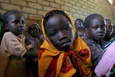 School girl in the Central African Republic