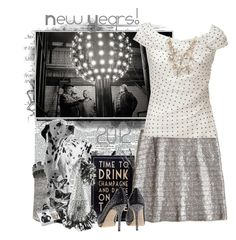 New Year's Dazzle by danileigh on Polyvore featuring polyvore, fashion, style, Alberta Ferretti, Chan Luu, Jimmy Choo, Kate Spade, Chanel, BOBBY, clothing and sequins