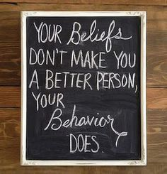 Amen. Be a good person! Shouldn't be that difficult for people!