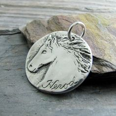 Personalized Silver Horse Jewelry Artisan Handmade by SilverWishes, $92.00
