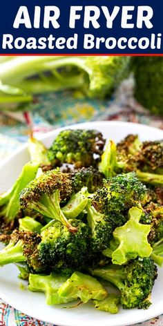 Air Fryer Recipes Chips, Air Frier Recipes, Air Fryer Dinner Recipes, Air Fryer Recipes Easy, Roasted Broccoli Recipe, Fried Broccoli, Broccoli Recipes, Air Fried Vegetable Recipes, Eating Clean