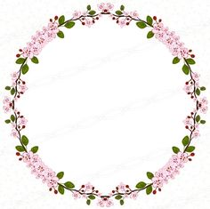 Circle cherry blossom floral bloom vector clipart borders and frames transparent png 300dpi wall artwok. https://www.etsy.com/listing/244999417/instant-download-300dpi-png-frames-bloom?ref=shop_home_active_6