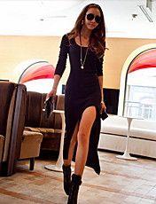 Haute Maxi Dress Split cuisse de la femme – CAD $ 16.79