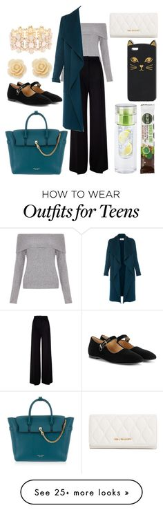 """""""Day of Meetings"""" by maeaballroomprincess on Polyvore featuring New Look, MaxMara, L.K.Bennett, Henri Bendel, The Row, Draper James, Charlotte Russe and Vera Bradley"""