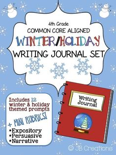 air test prep kid friendly writing rubrics grades 4th grade common core winter writing journal set task cards rubric