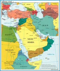 Political map of saudi arabia israel jordan lebanon syria iraq similar ideas gumiabroncs Choice Image