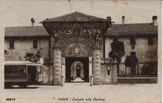 Certosa di Pavia in uno scatto del 1910ca - Il Chiostro