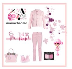 """""""pink is cool"""" by saturn43210 on Polyvore featuring Current/Elliott, Bliss and Mischief, Dr. Martens, Fendi and NARS Cosmetics"""