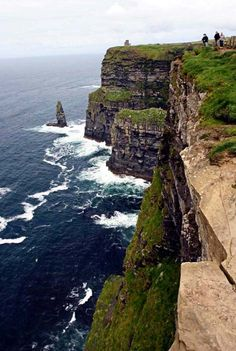 Cliffs of Moher, Ireland.so that's what they look like!....I was there but couldn't see a thing due to fog!