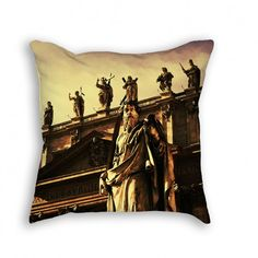 """Throw Pillow with Stuffing/Insert – """"Papal Basilica"""" 