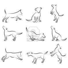 stylized dog line drawing - Google Search