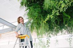 Preparing Jana and Nikki's installations. Photo by Tasha Seccombe Hanging Flower Arrangements, Hanging Flowers
