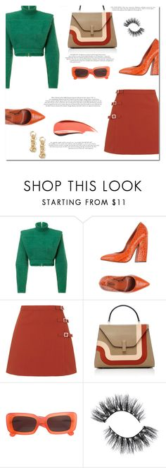"""Babes it's friday"" by marinelatadic ❤ liked on Polyvore featuring Balmain, Missoni, Topshop and Linda Farrow"