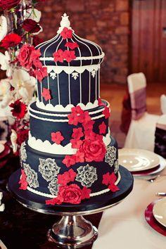 Gothic+Wedding+Cakes | Black and white gothic wedding cake - Gothic Wedding Photo Shoot at ...