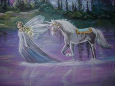 Pictues Very Very Cute Unicorns | Here I sketched the mural of the fairy, unicorn, castles.