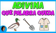 adivina que palabra queda copia Phonemic Awareness, Spanish, Education, Comics, Videos, Youtube, Character, Texts, Phonological Awareness