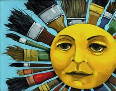 Sun Painting - Cbs Sunday Morning Sun Art by Linda Apple Sunday Morning Show, Morning Sun, Sunday Morning Images, Los Astros, Sol Sun, Good Day Sunshine, Happy Sunshine, Hello Sunshine, Sun Designs