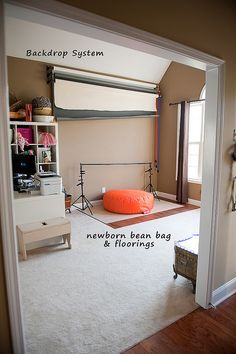 I have been meaning to get/make a bean bag table like that . . .    I wish I had more space in my house!