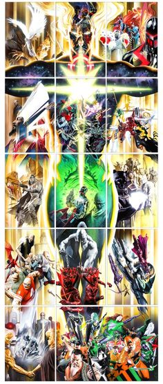 Universe X #0-#14 covers by Alex Ross *