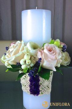 lumanari nunta - Căutare Google Bride Bouquets, Pillar Candles, Paper Flowers, Wedding Flowers, Easter, Symbols, Table Decorations, Weddings, Templates