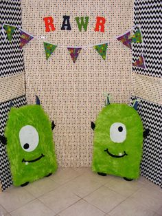 Photo Booth for monster themed party