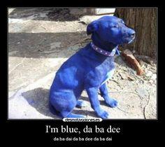 I'm Blue Da BA Dee | Carteles y Desmotivaciones de eiffel 65-blue