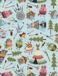Owls & Teepees - Our Fabrics | TIMELESS TREASURES