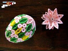 Easter egg quilled   quilling