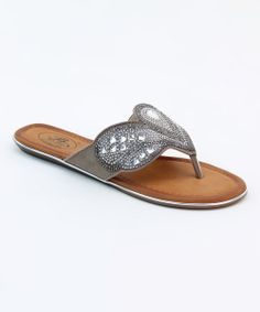 Take a look at the Pewter Fountain Sandal on #zulily today!