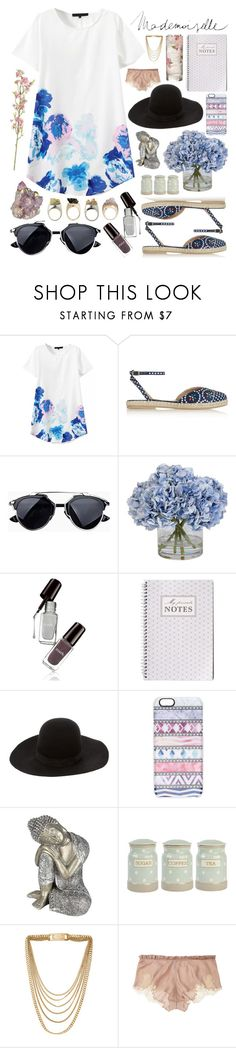 """""""Mademoiselle"""" by livajka ❤ liked on Polyvore featuring Tabitha Simmons, Ethan Allen, Dsquared2, Casetify, Pacific Coast, Michael Kors, Carine Gilson, white, dress and shoes"""