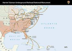The Underground Railroad routes