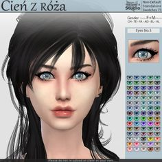 Sims 4 CC's - The Best: Eyes by Cienzroza