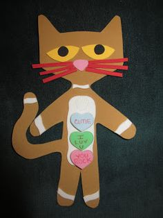 These are some AWESOME ways to use the Pete the Cat picture books and the Pete the Cat character for different holiday story times. This is girl boy pet Cat Valentine, Valentine Crafts, Holiday Crafts, Valentine Songs, Valentine Theme, Kids Valentines, Preschool Projects, Classroom Crafts, Preschool Books