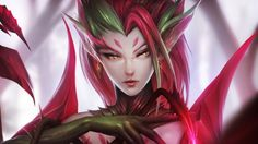 Download Zyra League of Legends Beautiful Fantasy Girl 1920x1080