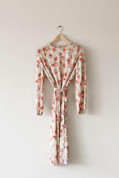 Floral Print Dress by fieldvintage on Etsy